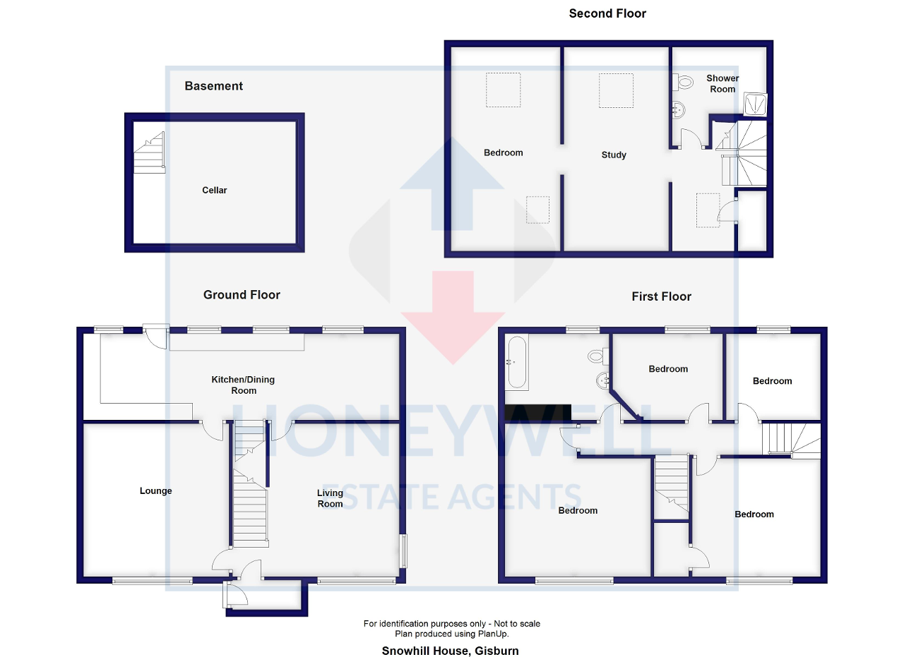 Floorplan of Main Street, GISBURN, BB7 4HD