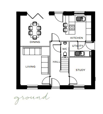 Floorplan of 17 The Warren, Hurst Green, BB7 9QJ