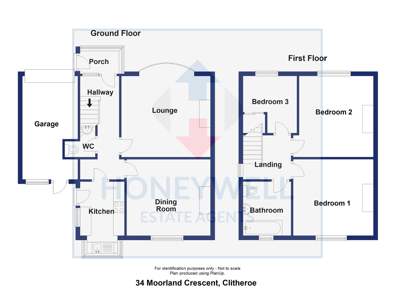 Floorplan of Moorland Crescent, Clitheroe, BB7 4PY