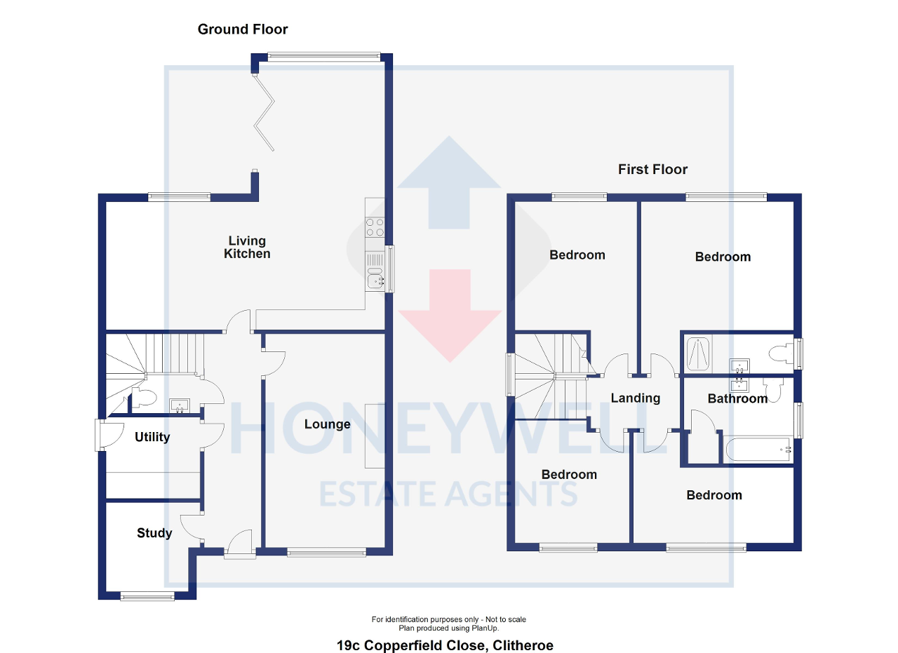Floorplan of Copperfield Close, Clitheroe, BB7 1ER