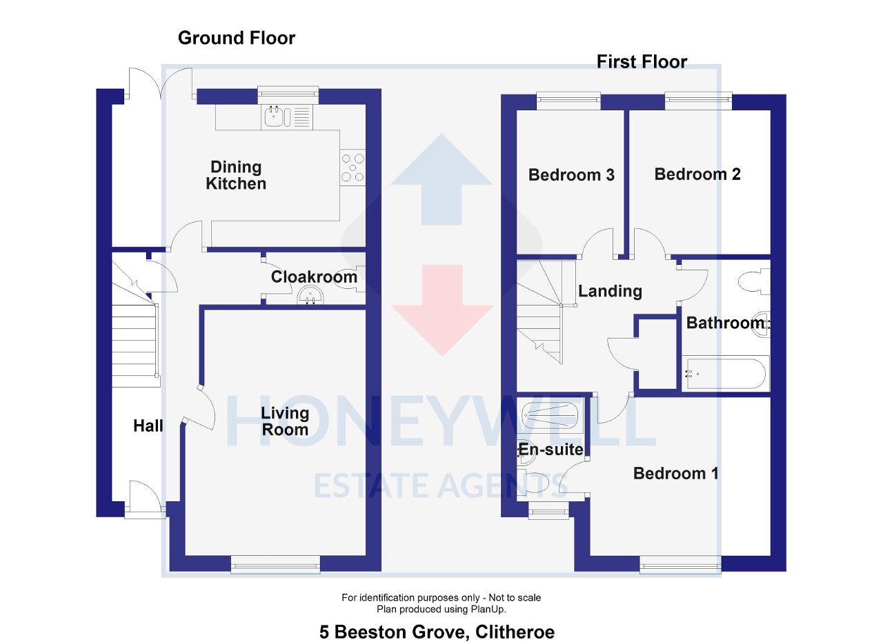 Floorplan of Beeston Grove, Clitheroe, BB7 2RF