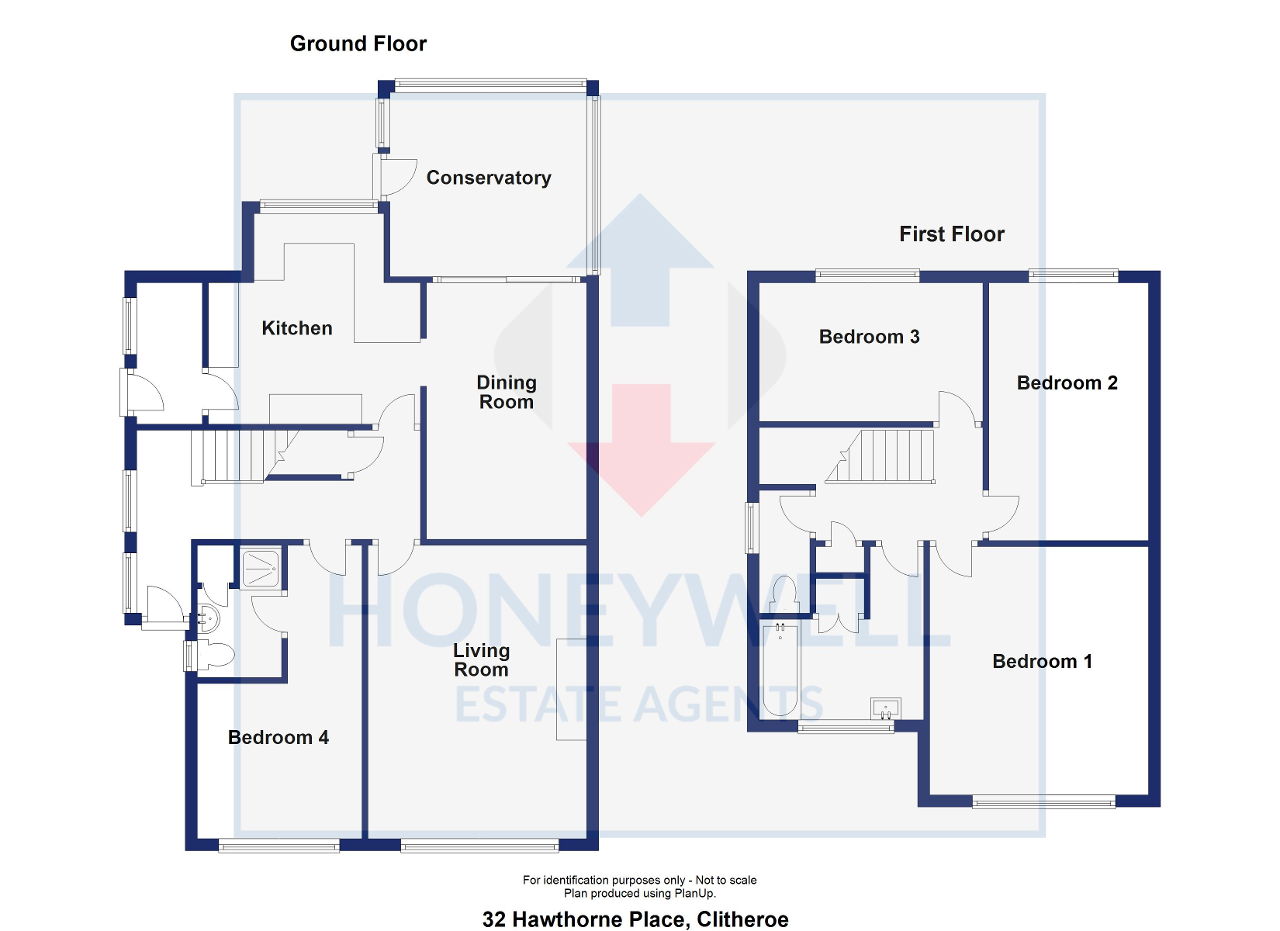Floorplan of Hawthorne Place, Clitheroe, BB7 2HU